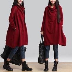 Diosa - Cowl Neck Long Sleeve Dress