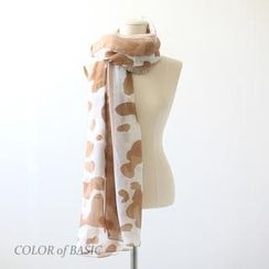 COLOR of BASIC - Patterend Long Scarf