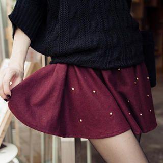 Tokyo Fashion - Elasticized Waist Studded Skirt