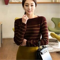ode' - Boat-Neck Stripe Sweater
