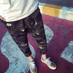 DragonRoad - Camouflage Cropped Pants