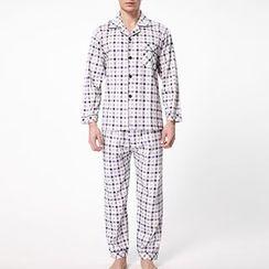 Landgravine - Pajama Set: Check Shirt + Pants