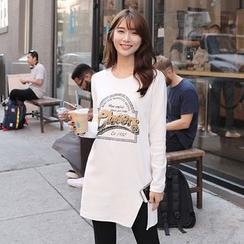 CLICK - Lettering Print T-Shirt