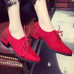 QQ Trend - Pointy Lace Ups