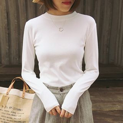 Shimi - Plain Long Sleeve T-Shirt