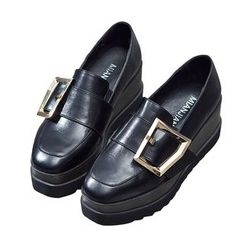 VIAN - Wedge Round Toe Loafers