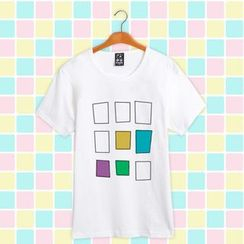 Comic Closet - Tsukiuta Shiwasu Kakeru Printed Short-Sleeve T-shirt
