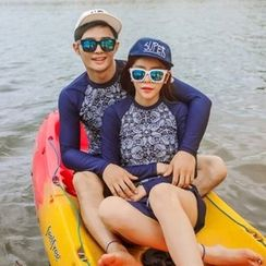 Anfory - Couple Matching Patterned Rashguard