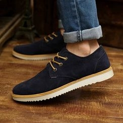 Artree - Faux Suede Oxfords