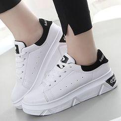 Limone - Letter Panel Platform Sneakers