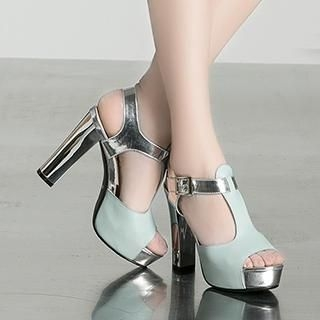 Exull - T-Strap High Heel Sandals