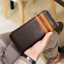 MR.BLUE - Striped Long Wallet