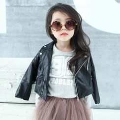 Princess House - Kids Faux Leather Biker Jacket