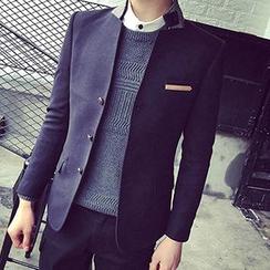 Besto - Woolen Stand-collar Blazer