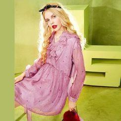 ELF SACK - Ruffled Chiffon Dress