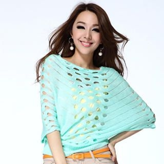 O.SA - Cut Out Knit Top