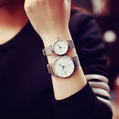 InShop Watches - Couple Set: Metallic Strap Watch