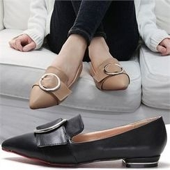 Reneve - Pointy-Toe Buckled Loafers