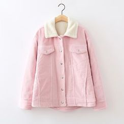 ninna nanna - Corduroy Fleece-lined Jacket