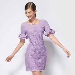 O.SA - Lace Sheath Dress
