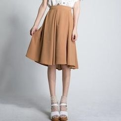 LULUS - Pleated Midi Skirt