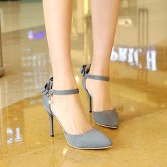 Pretty in Boots - Ankle Strap Pointy Pumps