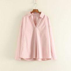 三木社 - V领长袖衬衫