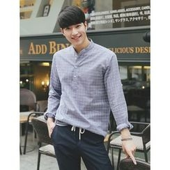 STYLEMAN - Long-Sleeve Check Henley