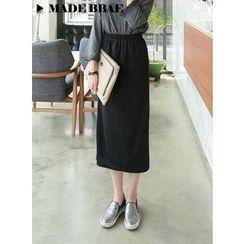 BBAEBBAE - Elastic-Waist Maxi Skirt