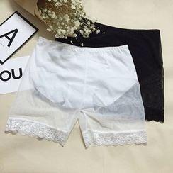 ALIN STYLE - Lace Trim Undershorts
