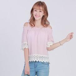 Tokyo Fashion - Off-Shoulder Lace-Trim Top