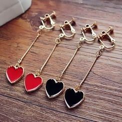 EPOQ - Heart Clip-On Drop Earrings