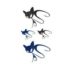 Alinda - Set of 10: Cat Faux Tattoo Stickers