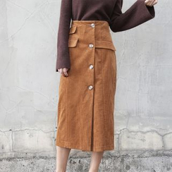 TAILO - Button-Front Skirt