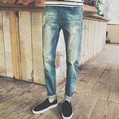 Telvi - Distressed Washed Jeans