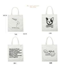 Jackpot Queen - Letter Canvas Shopper Bag