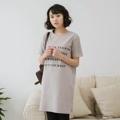 11.STREET - Lettering T-Shirt Dress