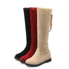 Bootsling - 内增高蕾丝边高身靴