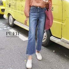 PUFII - Wide Leg Denim Jeans