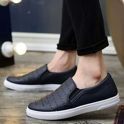 Preppy Boys - Stitched Slip-On Sneakers