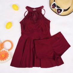 Dolfin - Set: Plain Swim Dress + Swim Shorts