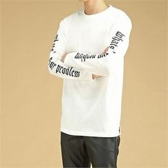 THE COVER - Lettering-Sleeve T-Shirt