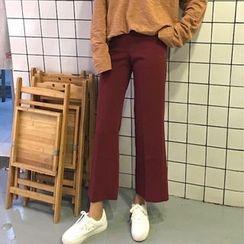Cloud Nine - Plain Boot-cut Pants