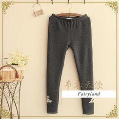 Fairyland - Star Print Fleece-Lined Leggings