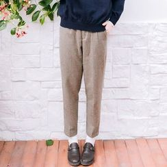 Rainie - Houndstooth Cropped Pants