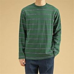 THE COVER - Colored Long-Sleeve Stripe T-Shirt