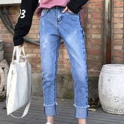 RASA - Washed Straight-Cut Jeans