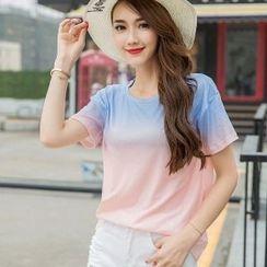 Amella - Short-Sleeve Ombre T-Shirt