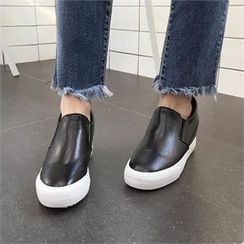QNIGIRLS - Genuine Leather Slip-Ons