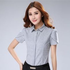 In the Mood - Short-Sleeve Plain Shirt